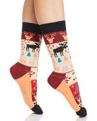 Happy Socks - Fair Isle Crew Socks - Lyst