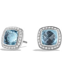 David Yurman - Albion Earrings With Blue Topaz And Diamonds - Lyst