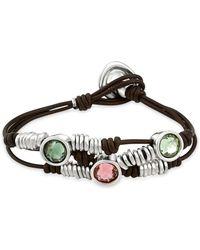 Uno De 50 - Berries Crystal Bracelet - Lyst