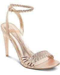 Ivanka Trump - Women's Holie Woven Leather Sandals - Lyst