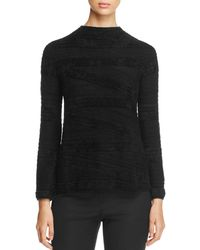 Armani - Textured Funnel-neck Sweater - Lyst
