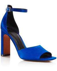 Marc Fisher - Women's Harlin Satin High Heel Ankle Strap Sandals - Lyst