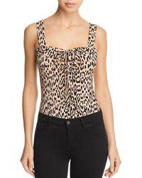 Guess - Franchesca Lace-up Leopard Print Bodysuit - Lyst