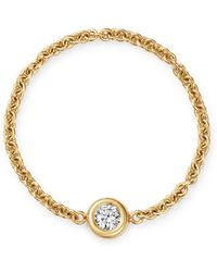 Zoe Chicco - 14k Yellow Gold Floating Diamond Chain Ring - Lyst