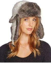 Crown Cap - Rabbit Fur Aviator Hat - Lyst