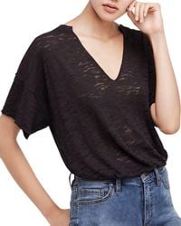 Free People - Maddie Burnout Tee - Lyst