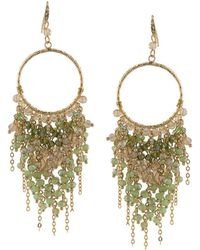 ABS By Allen Schwartz - Beaded Chandelier Drop Earrings - Lyst