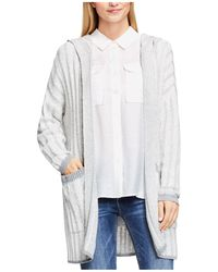 Two By Vince Camuto - Plaited Rib Hooded Cardigan - Lyst