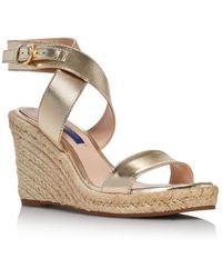 Stuart Weitzman - Women's Lexia Espadrille Wedge Sandals - Lyst