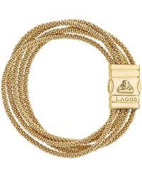 Lagos | Caviar Gold Collection 18k Gold Five Strand Bracelet | Lyst