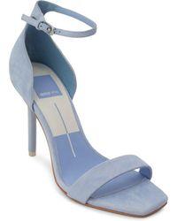 Dolce Vita - Women's Halo Suede High Heel Ankle Strap Sandals - Lyst