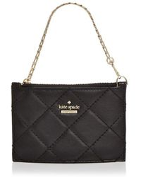 Kate Spade - Emerson Place Caroline Quilted Leather Wristlet - Lyst