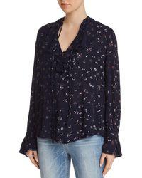 AG Jeans - Celeste Ruffled Floral Top - Lyst