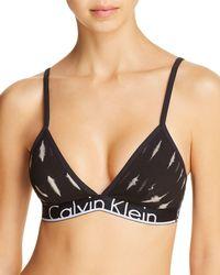CALVIN KLEIN 205W39NYC - Id Cotton Triangle Bralette - Lyst