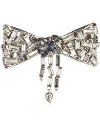 Alexis Bittar - Scattered Crystal Baguette Bow Pin - Lyst