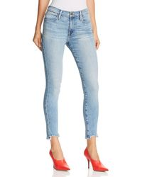 FRAME - Le High Skinny Front Frayed-hem Jeans In Paltrow - Lyst