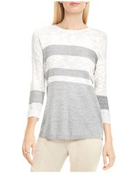 Two By Vince Camuto - Drop Shoulder Stripe Top - Lyst