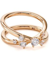 Nadri - Double Band Ring - Lyst