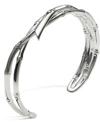 John Hardy | Women's Sterling Silver Bamboo Narrow Squeeze Cuff | Lyst