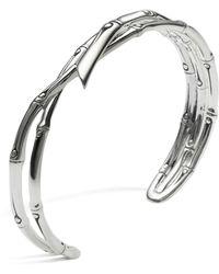 John Hardy - Women's Sterling Silver Bamboo Narrow Squeeze Cuff - Lyst