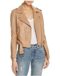 Linea Pelle - Washed Leather Moto Jacket - Lyst