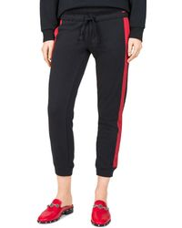 The Kooples - Striped Cropped Jogger Pants - Lyst