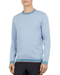 Ted Baker - Cotton Crew Neck Jumper - Lyst