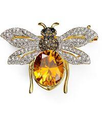 Nadri - Pavé Bumble Bee Pin - Lyst
