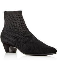 Eileen Fisher - Women's Purl Knit Low-heel Booties - Lyst