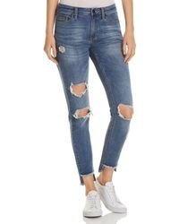 Kenneth Cole - Jess Distressed Skinny Jeans In May - Lyst