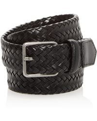 Cole Haan - Woven Stretch Leather Belt - Lyst
