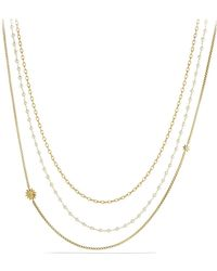 David Yurman - Starburst Chain Necklace With Pearls In Gold - Lyst