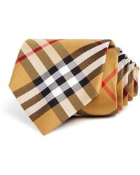 Burberry - Clinton Basic-check Silk Classic Tie - Lyst