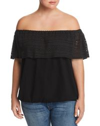 Lucky Brand - Lace Off-the-shoulder Top - Lyst