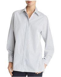 Lafayette 148 New York - Victoria Striped Shirt - Lyst