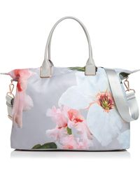 15f01cd50437 Lyst - Ted Baker Tote Botcon Botanical Bloom Print Shopper in Pink