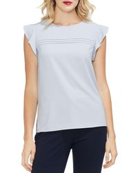 Vince Camuto - Flutter-sleeve Pintucked Top - Lyst
