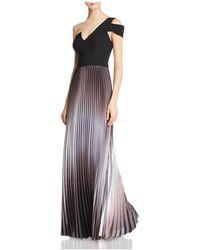 Aqua - One-shoulder Ombré Gown - Lyst