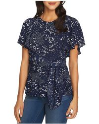 1.STATE - Floral-print Tie-waist Top - Lyst