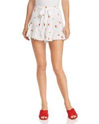 Aqua - Cherry Print Shorts - Lyst