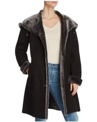 Maximilian - Lamb Shearling Button Coat - Lyst