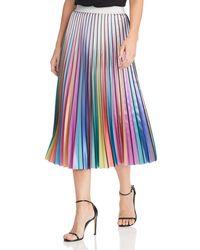 Lucy Paris - Rainbow Pleated Midi Skirt - Lyst