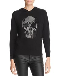 Minnie Rose - Embellished Skull Hooded Jumper - Lyst
