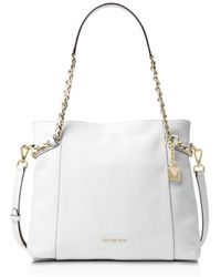 MICHAEL Michael Kors - Remy Medium Leather Shoulder Tote - Lyst