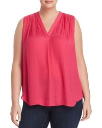 Vince Camuto Signature - Shirred V-neck Top - Lyst