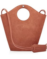 Elizabeth and James - Market Small Suede And Leather Tote - Lyst