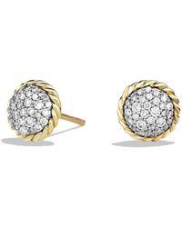 David Yurman - Châtelaine Earrings With Diamonds In 18k Gold - Lyst