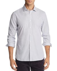 Bloomingdale's - Grid-print Broadcloth Slim Fit Shirt - Lyst
