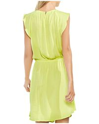 Vince Camuto - Flutter-sleeve Drawstring Dress - Lyst