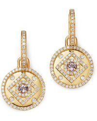 Kiki McDonough - 18k Yellow Gold Jemima Amethyst & Diamond Drop Earrings - Lyst